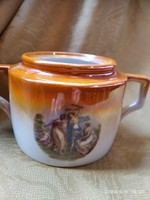 Zsolnay jelenetes cukortartó teás készlethez