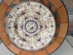 Antik  100éves Zsolnay tál, tányér virágmintás, gyönyörű Szecessziós luxus, gyüjteménybe, kínálónak!