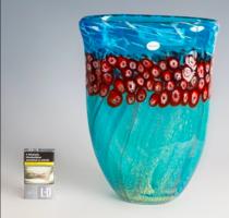 Muranói váza Millefiori technikával