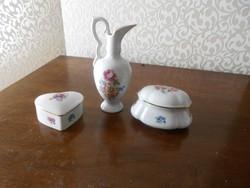Porcelán kiöntő cukortartó