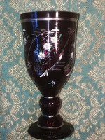Üveg talpas pohár