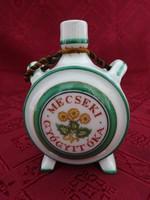 Zsolnay porcelán, antik, pajzspecsétes kulacs. magassága 9 cm.