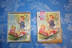 PUZZLE Vintage wooden puzzle - A taylor tot - PONDA jigsaw - régi fa gyerek puzzle