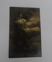 Boldog Új Évet I. világháborús képeslap, képes levelezőlap
