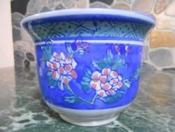 Virágtartó kaspó porcelán kínai keleti 11*8 cm