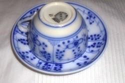 Sarreguemines francia porcelánfajansz teás csésze +  csészealj