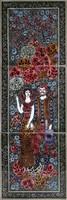 1A860 Vén Edit kétalakos kerámia csempekép 47.5 x 17.5 cm