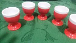 Piros porcelán tojástartók