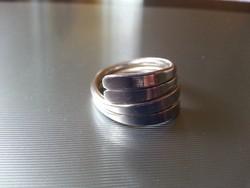 Sávos ezüst gyűrű 57-es