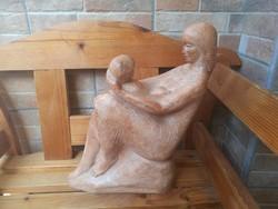 Terrakotta Anya Gyerekével jelzett