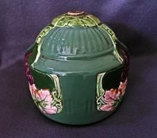 Antik, szecessziós porcelán jelzett lámpatest, hibátlan