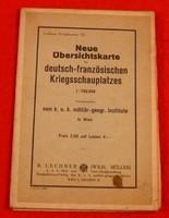 Lechners Kriegskarten VII - Neue Übersichtskarte des deutsch-französischen Kriegsschauplatzes