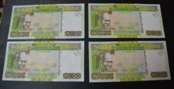 4db UNC sorszámkövető Guinea 500 frank