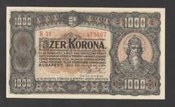 1000 korona 1923.  UNC!!  RITKA!!