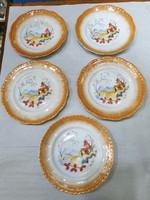 Régi zsolnay süteményes készlet