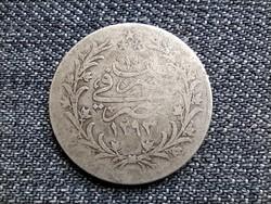Egyiptom II. Abdul Hamid (1876-1909) .833 ezüst 5 Qirsh 1293 1885 W (id23326)