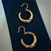 Régebbi arany karika fülbevaló,  5,97 gr 14 k