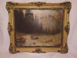 Antik különleges jelzett festmény gyűjteményből