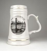 1B127 MOL - Algyő porcelán söröskorsó 16.5cm