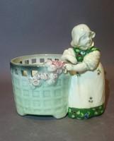 Osztrák kaspó / Jugendstil ceramic plant pot