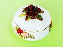 Gyűjtői,  gyönyörű Royal Albert rózsás BONBONIER