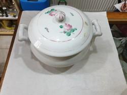 Régi porcelán leveses tál