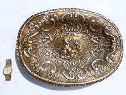 Hatalmas barokk stil fémtálca