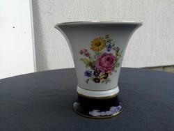 Gyönyörű mutatós!es váza Royal Dux extra forma! Virágmintás, rózsa, mezei virágok!
