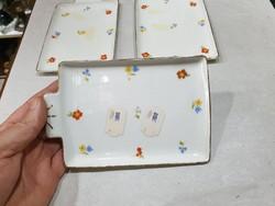 3db régi csehszlovák porcelán tàl