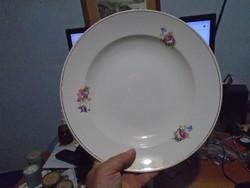 Nagyméretű Virágos  gránit tányér.
