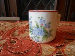 Antik Zsolnay nefelejcs kávés csésze