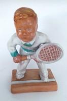 Kerámia Teniszező fiú