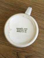 Régi porcelán  bögre Barabás Imre féle jelzéssel