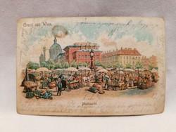 1900 Wien képeslap Nascmarkt