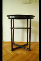 Antik JOSEF HOFFMANN szalon asztal szecessziós ovális asztal lerakóasztal Thonet Mundus ca.1907