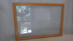 Üvegezett fa képkeret , falc 44,5x65,5 cm