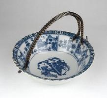 1B170 Régi keleti porcelán tál kosár 13 x 15.5 cm