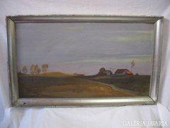 Takács Z. Bugaci táj festmény