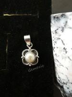 Valódi Tenyésztett Gyöngy 925 Ezüst Medál