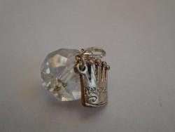 Crystallized Swarovski  Kristály medál koronával és kapoccsal szerelve PANDORA stílusban készült