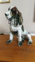 Óriás spániel kutya porcelán 33 cm magas