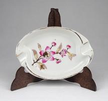 1B222 Régi virágos kispesti porcelán hamutál