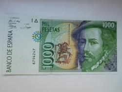 Spanyolország 1000 peseta 1992 UNC