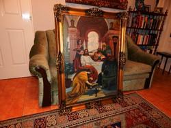 Bibliai téma olaj-vászon festményen