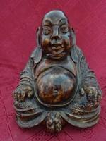 Kerámia ülő buddha szobor, magassága 20 cm.
