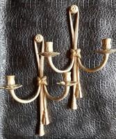 Gilde Handwerk bronz fali gyertyatartó pár