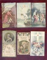 6 db régi szentkép a 20 század első feléből