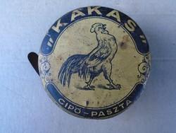 1930-ból Kakas cipö paszta fémdoboz !
