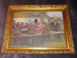 Hódi Géza ( 1881-1942)  Eredeti festménye