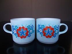 2 db Alföldi porcelán retro mintás bögre